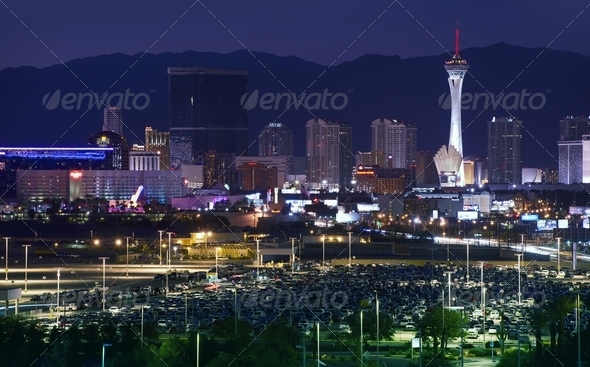 Downtown Las Vegas - Stock Photo - Images