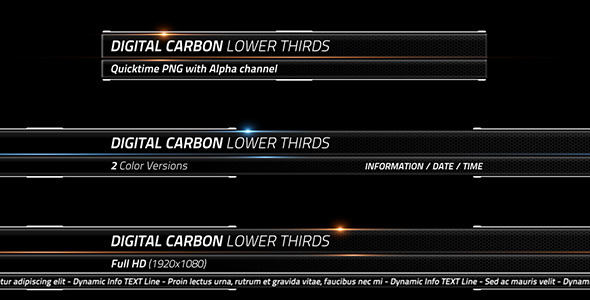 Digital Carbon Lower Thirds By CGcube