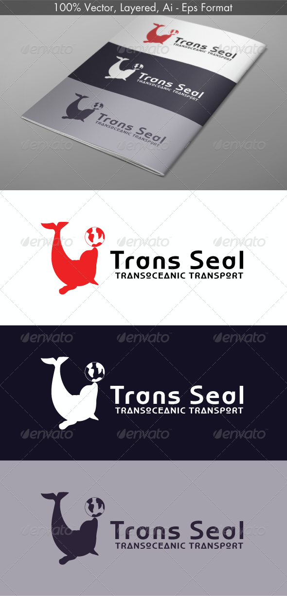 Trans Seal Logo - Animals Logo Templates
