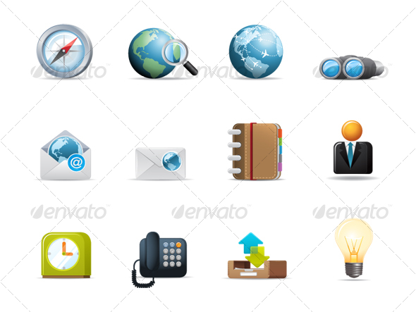 Qicon series | Web and Communication icons 2 - Web Icons