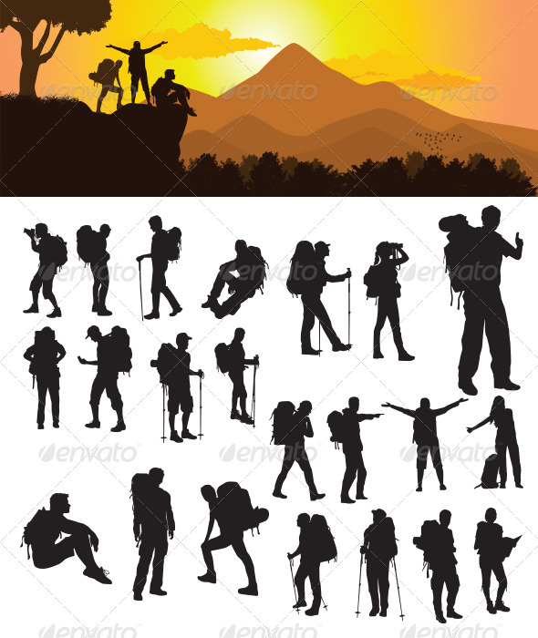 Backpacker Silhouette - Travel Conceptual