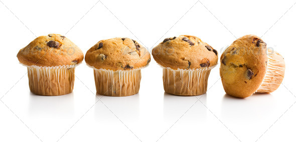 muffin with chocolate - Stock Photo - Images