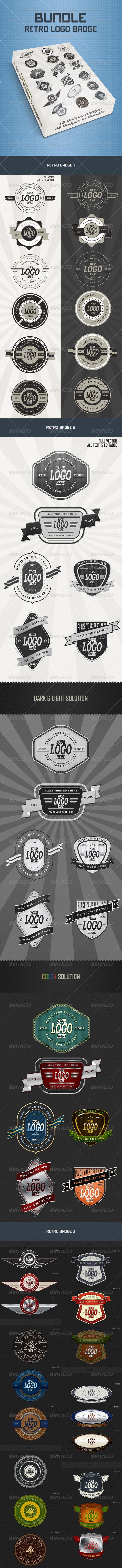 Bundle Retro Badge - Badges & Stickers Web Elements