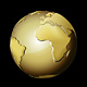 Golden Earth Globe - GraphicRiver Item for Sale