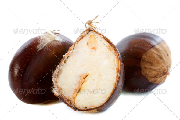 opening chestnut - Stock Photo - Images