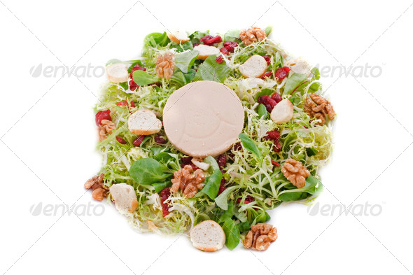 salad with foie gras - Stock Photo - Images
