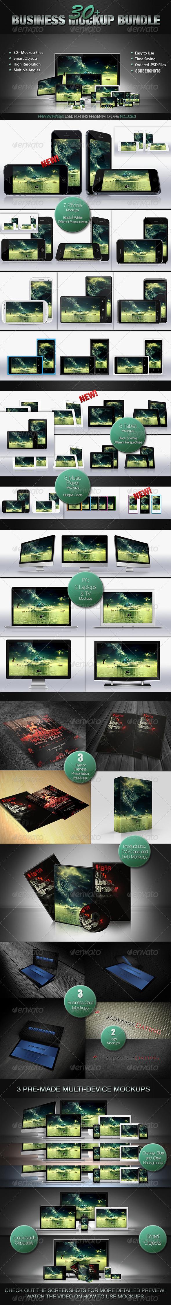 30+ Mockup Bundle - Multiple Displays