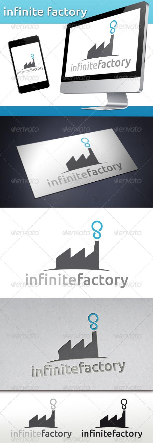 Factory Infinite Logo - Buildings Logo Templates