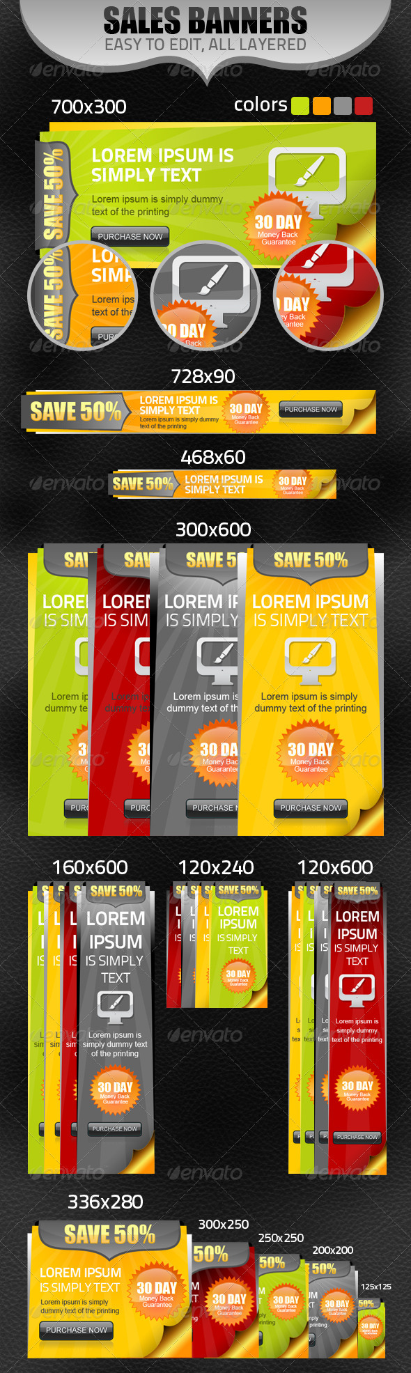 Multipurpose Sales Banners - Banners & Ads Web Elements