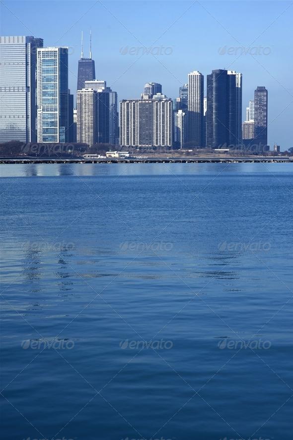 Lake Michigan Skyline - Stock Photo - Images