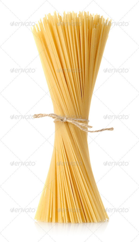 Pasta tied up by a rope - Stock Photo - Images