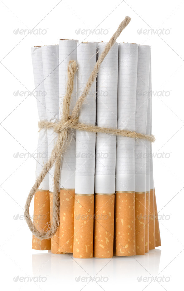 Bunch of cigarettes - Stock Photo - Images