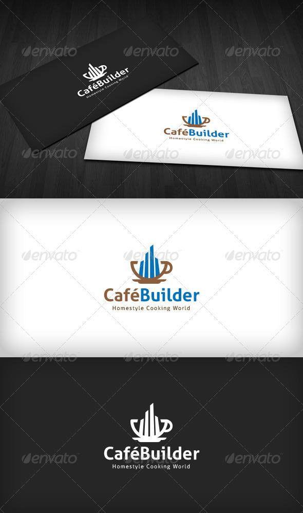 Cafe Builder Logo - Food Logo Templates