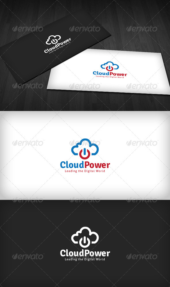 Cloud Power Logo - Symbols Logo Templates