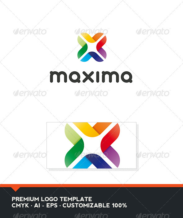 Maxima - Abstract and Letter X Logo Template - Abstract Logo Templates