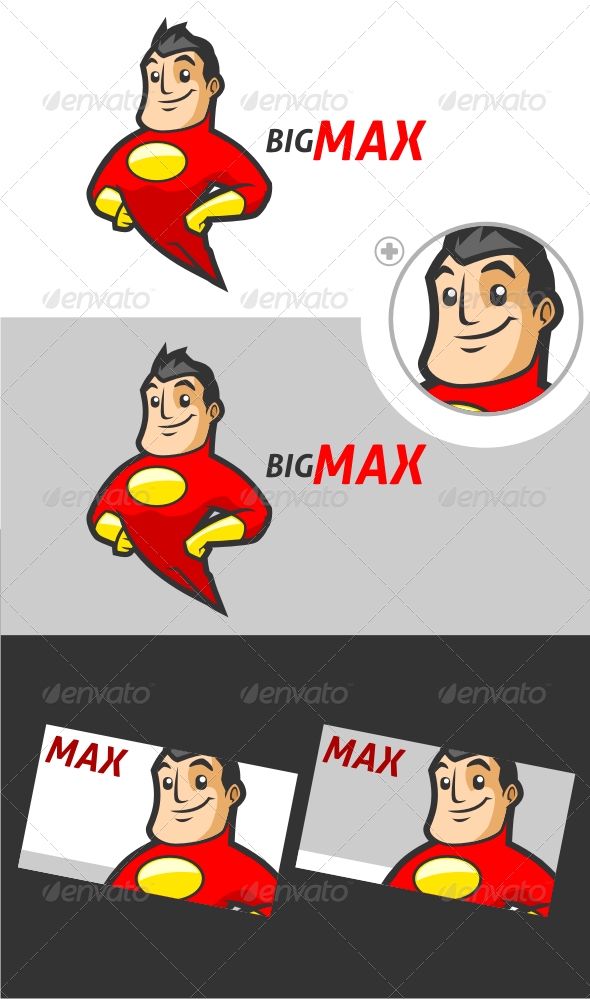 Superhero V.2 Logo Template - Humans Logo Templates
