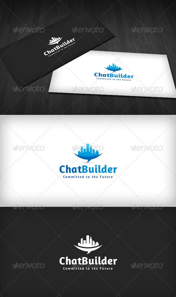 Chat Builder Logo - Buildings Logo Templates