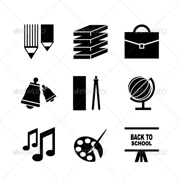 Vector School Icons - Miscellaneous Vectors
