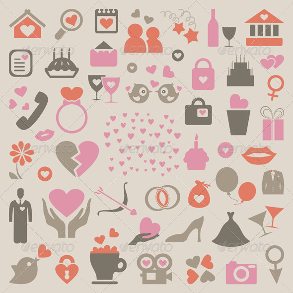 Collection love - Miscellaneous Vectors
