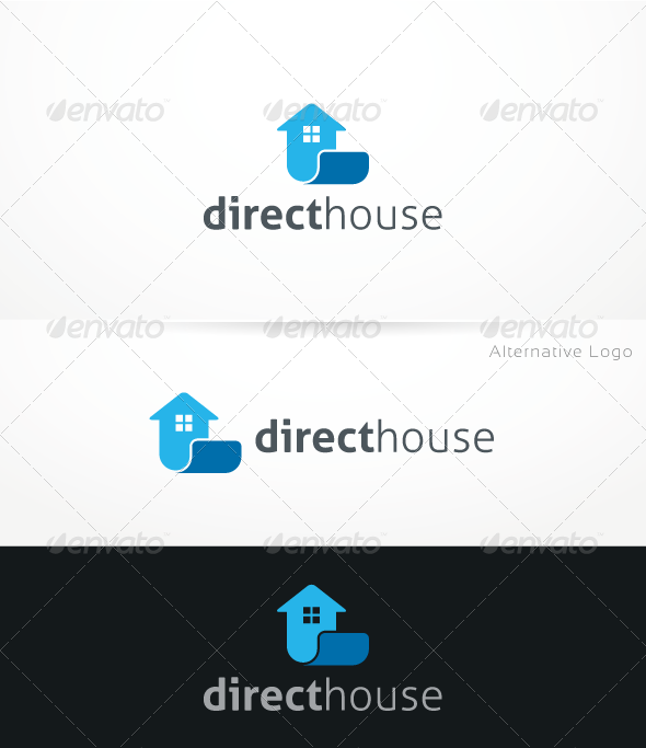 DirectHouse - Logo Template - Buildings Logo Templates