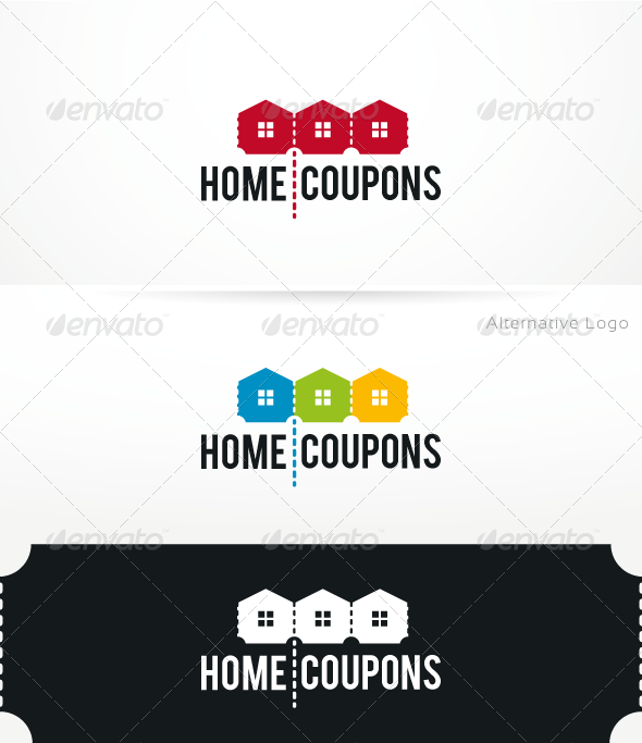 HomeCoupons - Logo Template - Objects Logo Templates