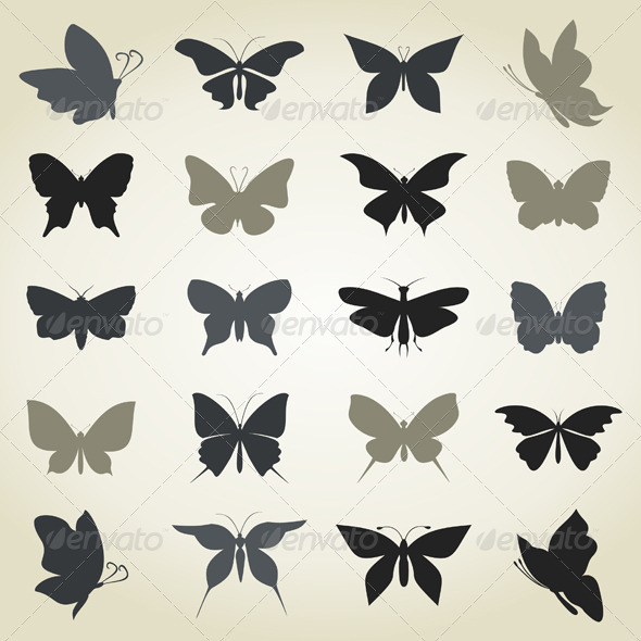 Collection the butterfly - Animals Characters
