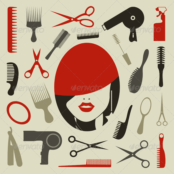 Hairstyle an icon - Miscellaneous Vectors