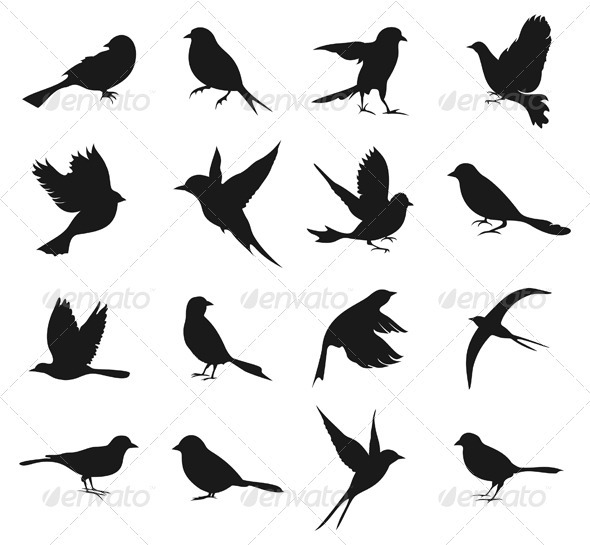Silhouette of birds2 - Animals Characters