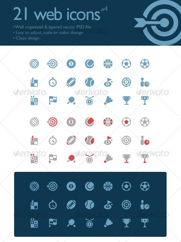 21 web icons #4 (sport symbols) - Web Icons