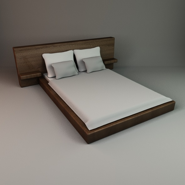 Stylish Bed 2 - 3DOcean Item for Sale