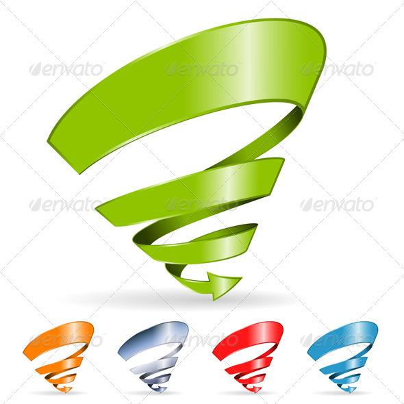 Spiral Arrow - Decorative Symbols Decorative