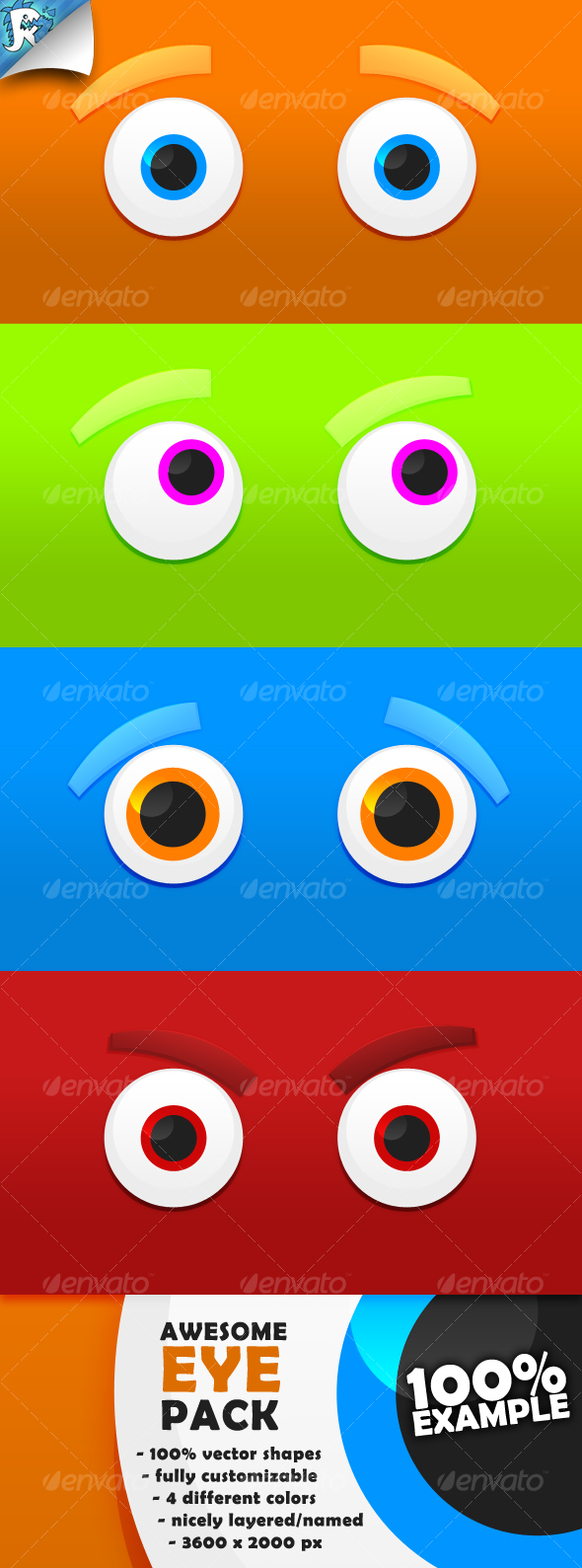 Eye Pack - They see you - Backgrounds Graphics