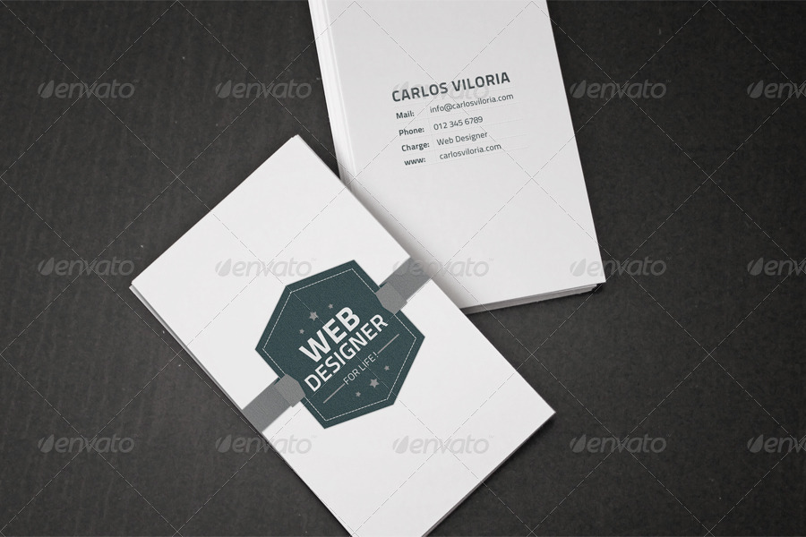 Flyer / Business Card Clean Realistic Mock-Up Set 1 by Giallo ...