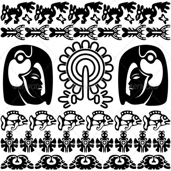 Ancient american design - Patterns Decorative