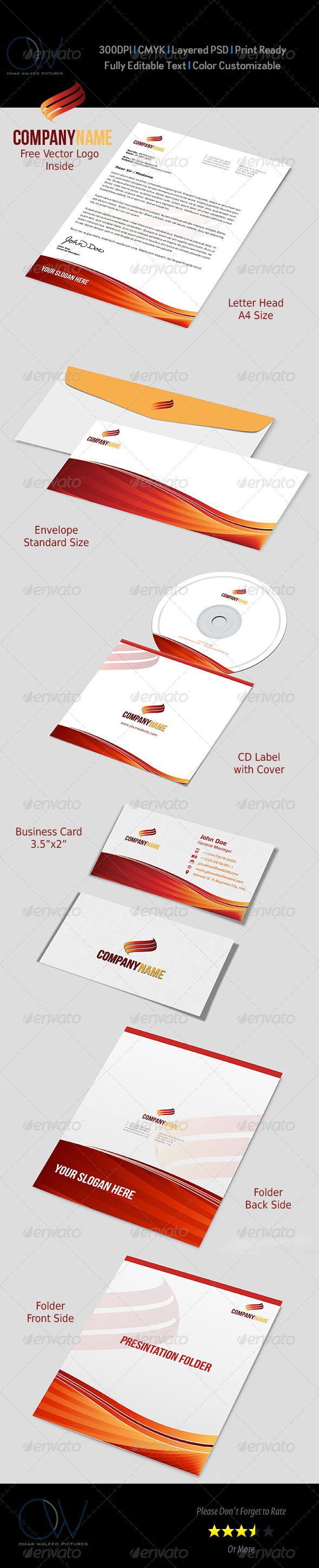 Corporate Stationery Pack Vol.1 - Stationery Print Templates
