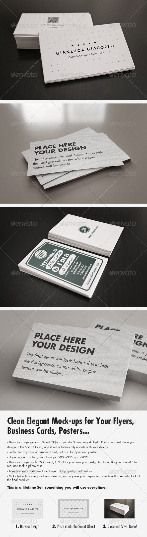 Flyer/Business Card Clean Realistic Mock-up Set 2 - Business Cards Print