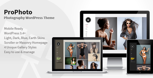 PhotoPro – Photography WordPress Theme