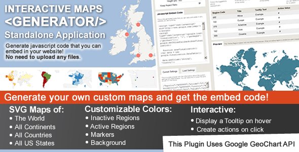 Interactive Maps Generator By Cmoreira CodeCanyon - Us map generator