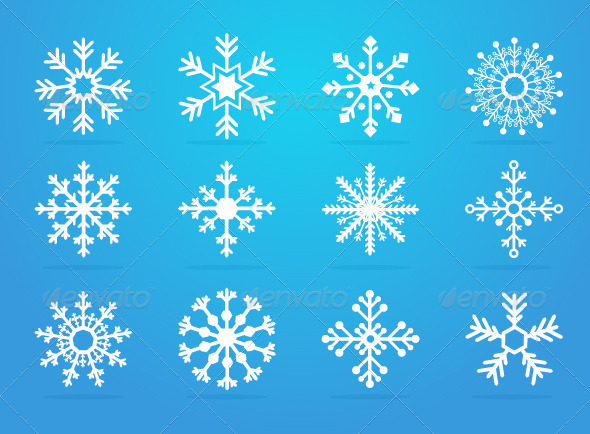 Snowflakes - Decorative Symbols Decorative