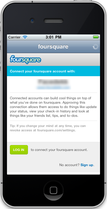 Sourcode              Foursquare oAuth nulled