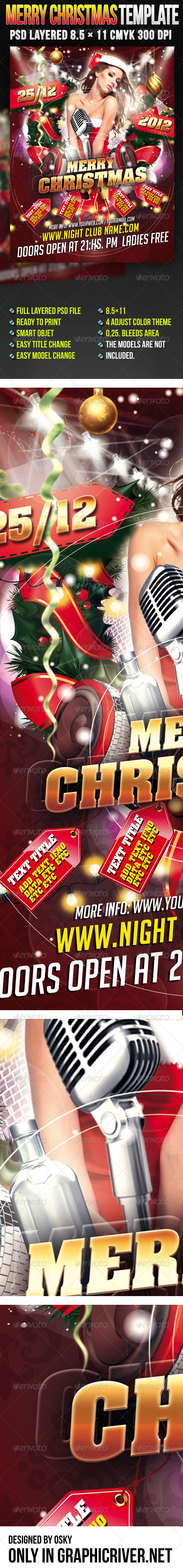 Merry Christmas Template - Clubs & Parties Events
