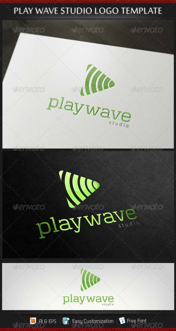 Play Wave Studio Logo Template - Objects Logo Templates