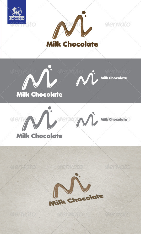 Milk Chocolate Logo Template - Letters Logo Templates