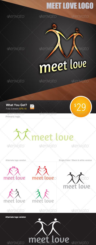 Meet to Love - Humans Logo Templates