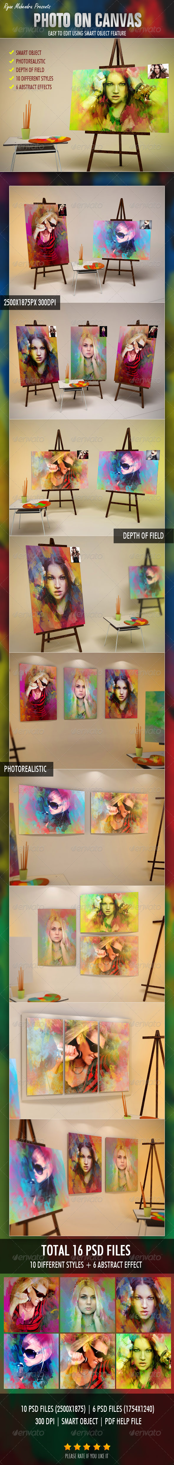 Photo On Canvas - Photo Templates Graphics