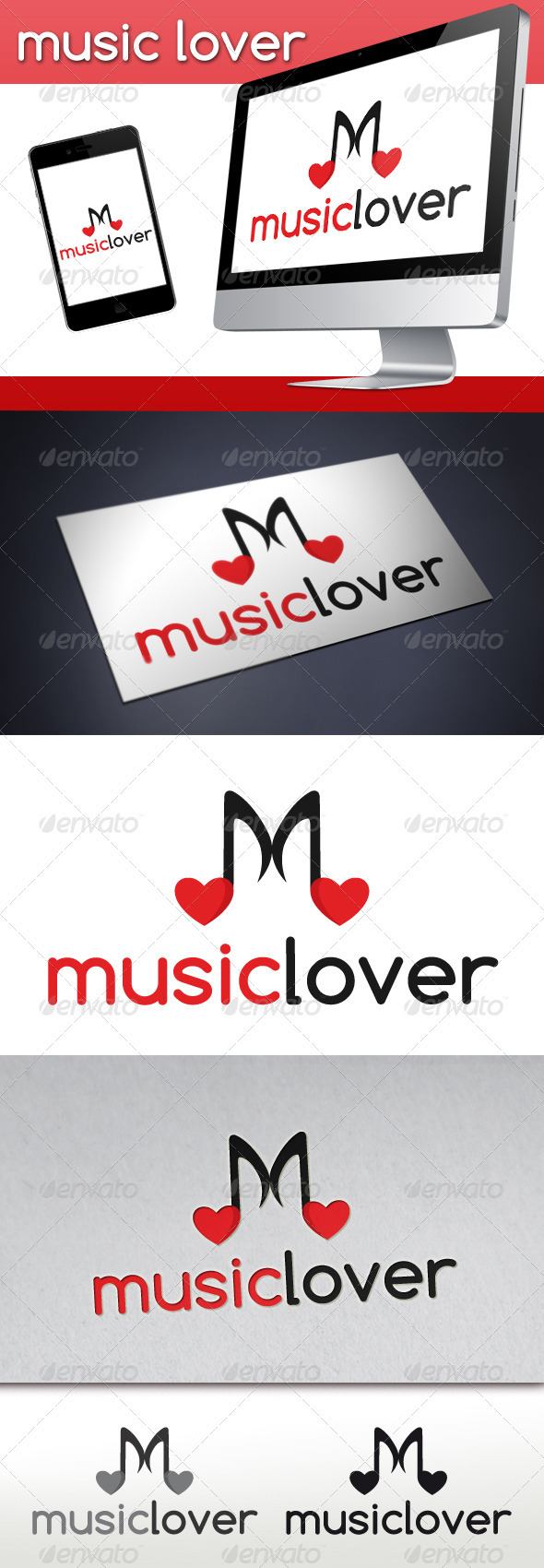 Love Music Logo - Symbols Logo Templates