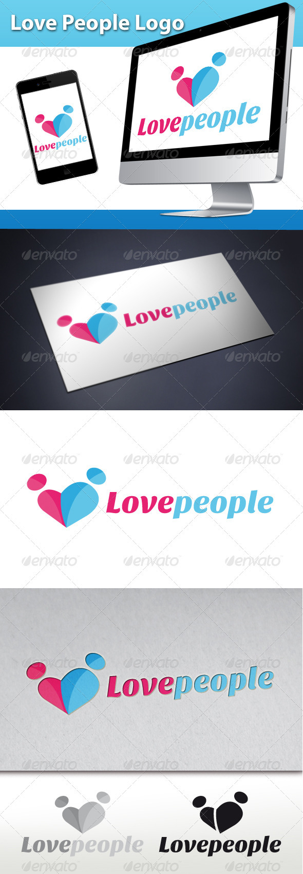 Love People Logo - Humans Logo Templates