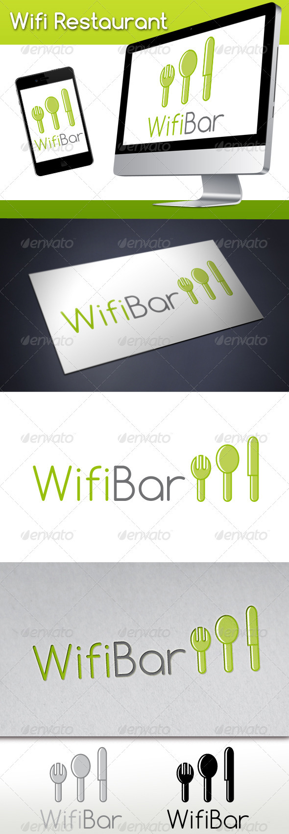 Wifi Restaurant Logo - Food Logo Templates