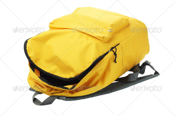 Yellow Backpack - Stock Photo - Images