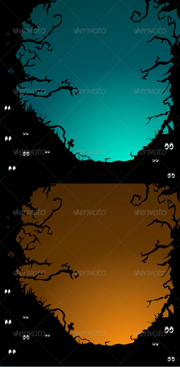 Forest eyes backgrounds - Characters Vectors
